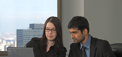 Man and woman in an office