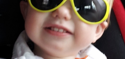 Little boy with sunglasses