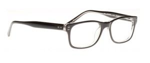 Men's Shiny Black Eyeglasses by Ray Ban