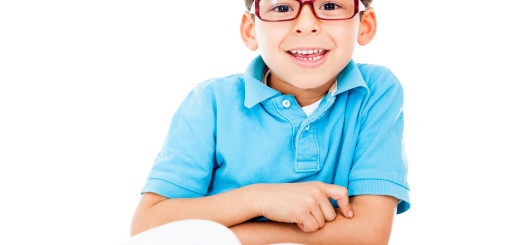 Little boy with glasses