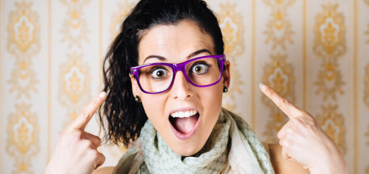 Girl With Purple Glasses