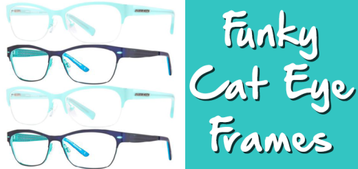 funky cat eye frames